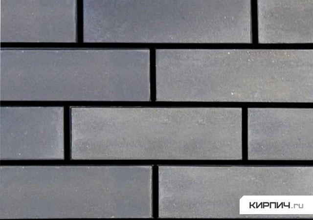 Так выглядит Кирпич силикатный облицовочный полуторный гладкий черный на фото