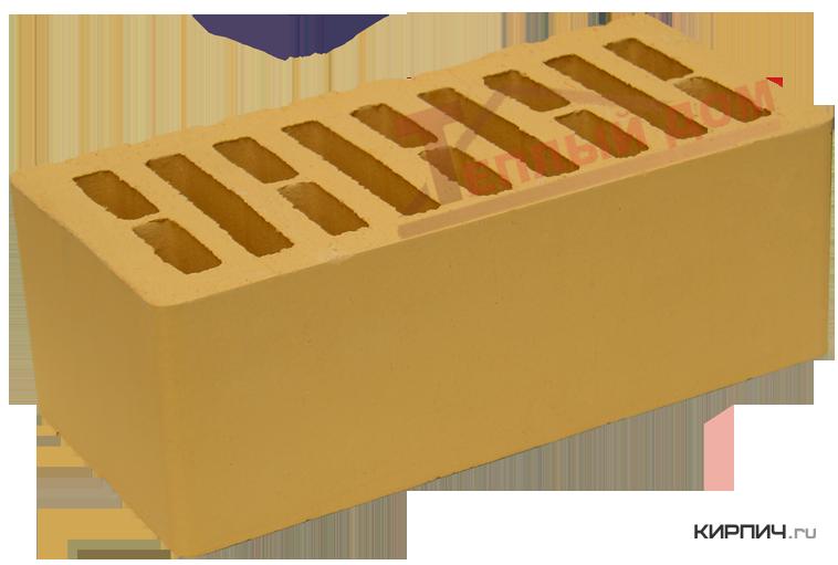 Так выглядит Кирпич слоновая кость керамический облицовочный полуторный щелевой М-150 на фото