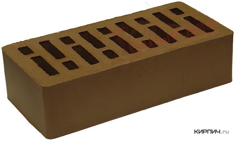 Так выглядит Кирпич коричневый облицовочный одинарный М-150 250х120х65  керамический на фото