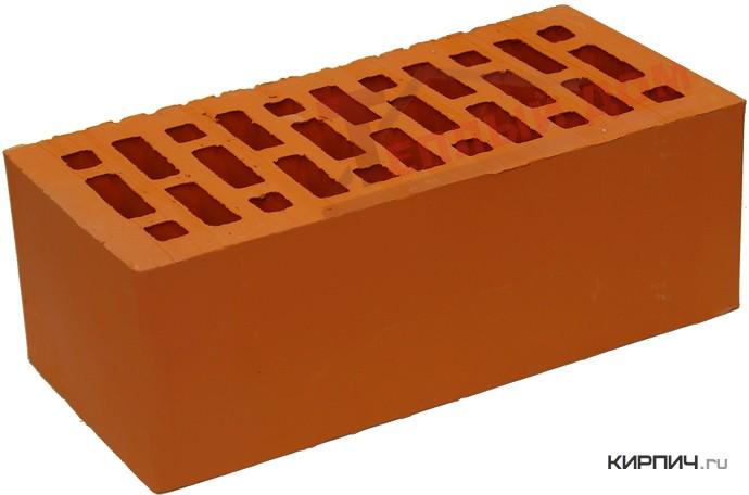 Так выглядит Кирпич керамический облицовочный полуторный щелевой М-150 красный на фото