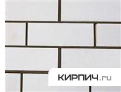 Так выглядит Кирпич силикатный облицовочный одинарный гладкий белый на фото