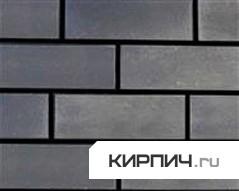 Так выглядит Кирпич силикатный облицовочный одинарный гладкий черный на фото