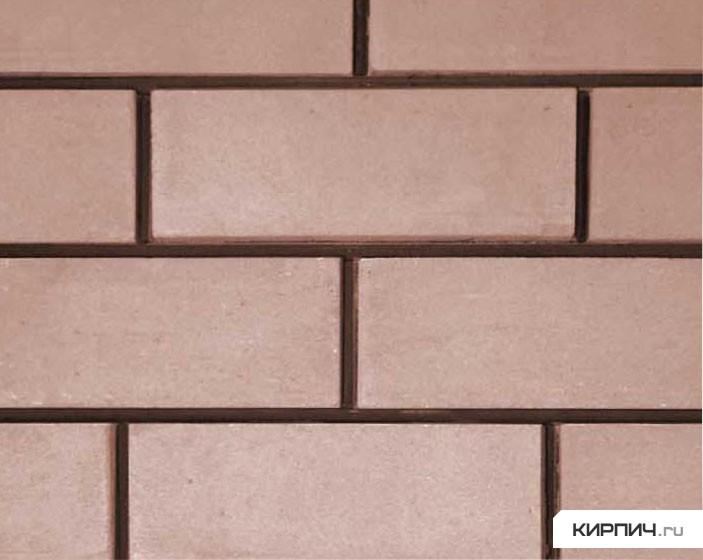 Так выглядит Кирпич силикатный облицовочный полуторный гладкий коричневый на фото