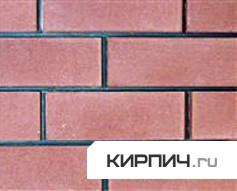 Так выглядит Кирпич силикатный облицовочный одинарный гладкий розовый на фото