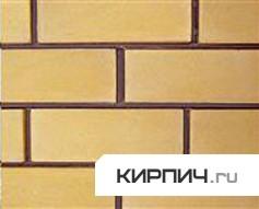 Так выглядит Кирпич силикатный облицовочный одинарный гладкий жёлтый на фото