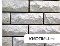 Так выглядит Кирпич силикатный облицовочный одинарный рустированыый ложок-тычок на фото