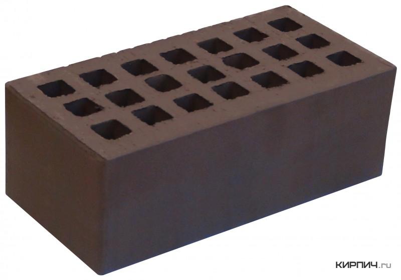 Так выглядит Кирпич коричневый керамический облицовочный полуторный щелевой М-150 на фото