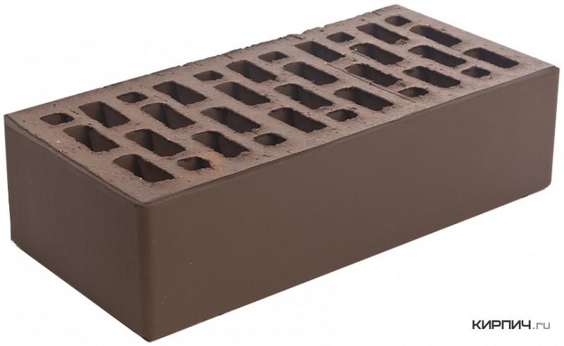 Так выглядит Кирпич облицовочный коричневый керамический одинарный М-150 250х120х65 на фото