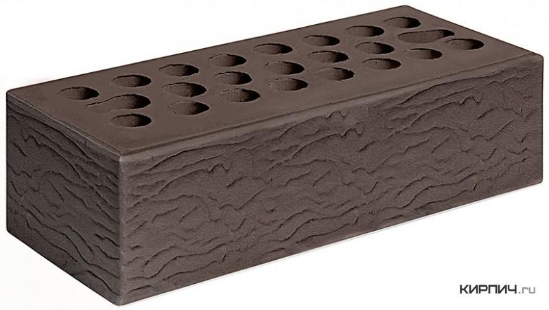 Так выглядит Кирпич шоколад керамический облицовочный рустик М-150 250х85х65 евро Керма на фото