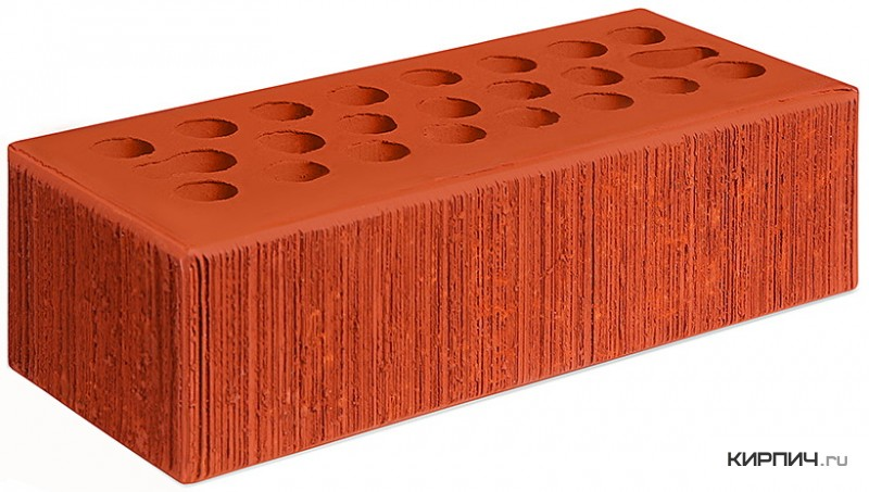 Так выглядит Кирпич красный керамический облицовочный бархат М-150 250х85х65 евро Керма на фото