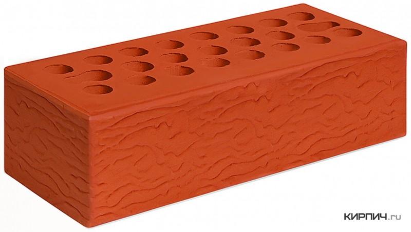 Так выглядит Кирпич красный керамический облицовочный рустик М-150 250х85х65 евро Керма на фото