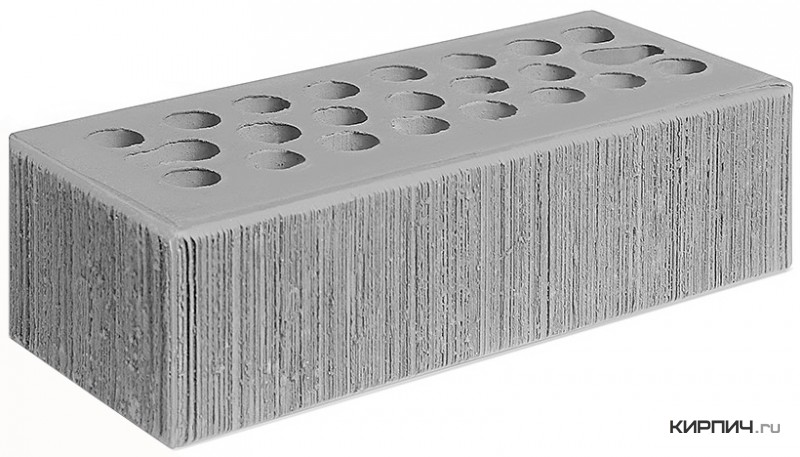 Так выглядит Кирпич серебро керамический облицовочный бархат М-150 250х85х65 евро Керма на фото