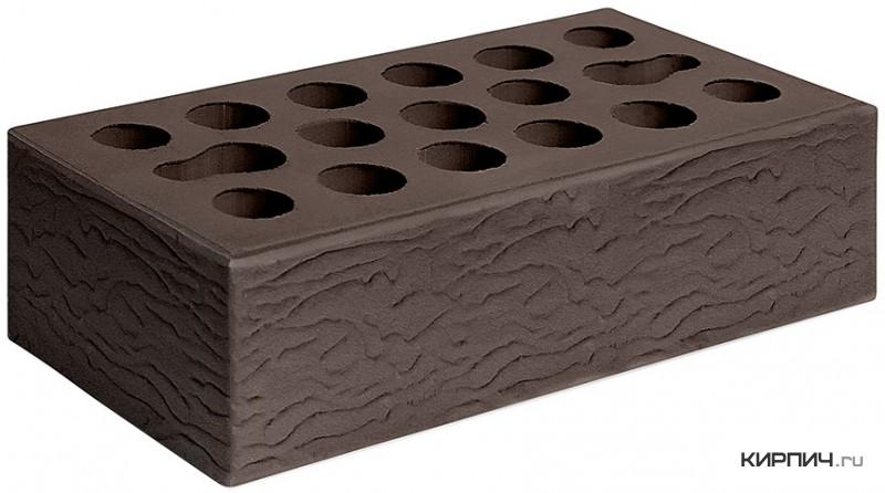 Так выглядит Кирпич шоколад керамический облицовочный одинарный рустик М-150 250х120х65 Керма на фото