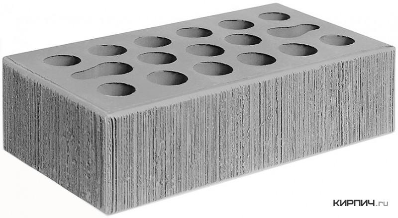 Так выглядит Кирпич серебро керамический облицовочный одинарный бархат М-150 250х120х65 Керма на фото