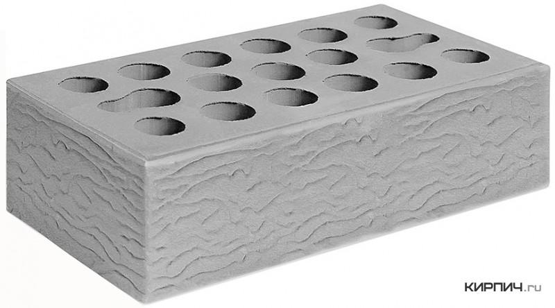 Так выглядит Кирпич серебро керамический облицовочный одинарный рустик М-150 250х120х65 Керма на фото