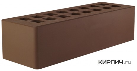 Так выглядит Кирпич темно-коричневый керамический облицовочный евро М-150 250х85х65 на фото