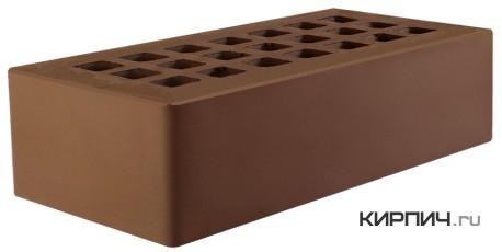 Так выглядит Кирпич темно-коричневый керамический облицовочный одинарный М-125 250х120х65 на фото