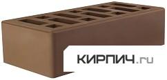 Так выглядит Кирпич мокко керамический облицовочный одинарный М-150 250х120х65 на фото