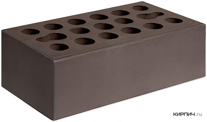 Так выглядит Кирпич шоколад керамический облицовочный полуторный щелевой М-150 Керма на фото