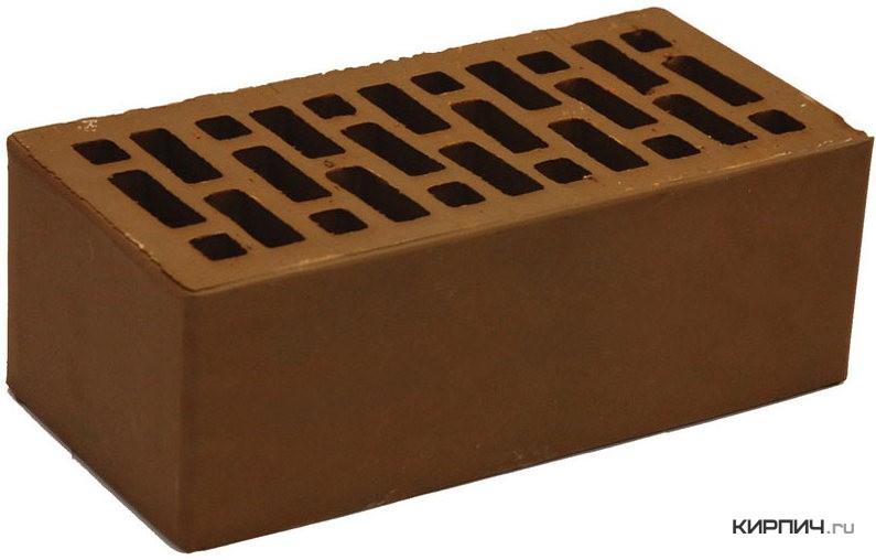 Так выглядит Кирпич шоколад керамический облицовочный полуторный щелевой М-150 на фото