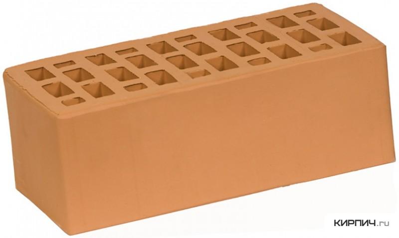 Так выглядит Кирпич персик керамический облицовочный полуторный щелевой М-150 на фото