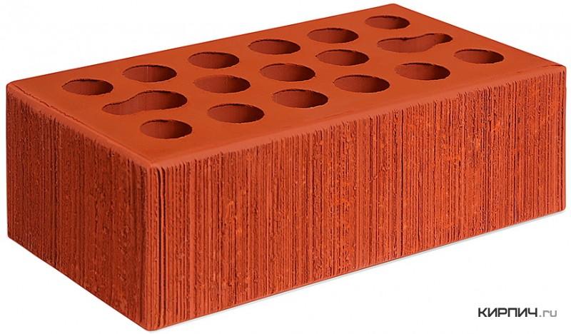 Так выглядит Кирпич красный керамический облицовочный полуторный щелевой бархат М-150 Керма на фото