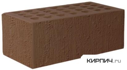 Так выглядит Кирпич темно-коричневый керамический облицовочный полуторный бархат М-150 на фото