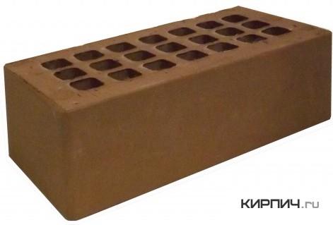 Так выглядит Кирпич темно-коричневый керамический облицовочный полуторный М-150 на фото