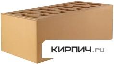 Так выглядит Кирпич керамический облицовочный полуторный М-150 солома на фото