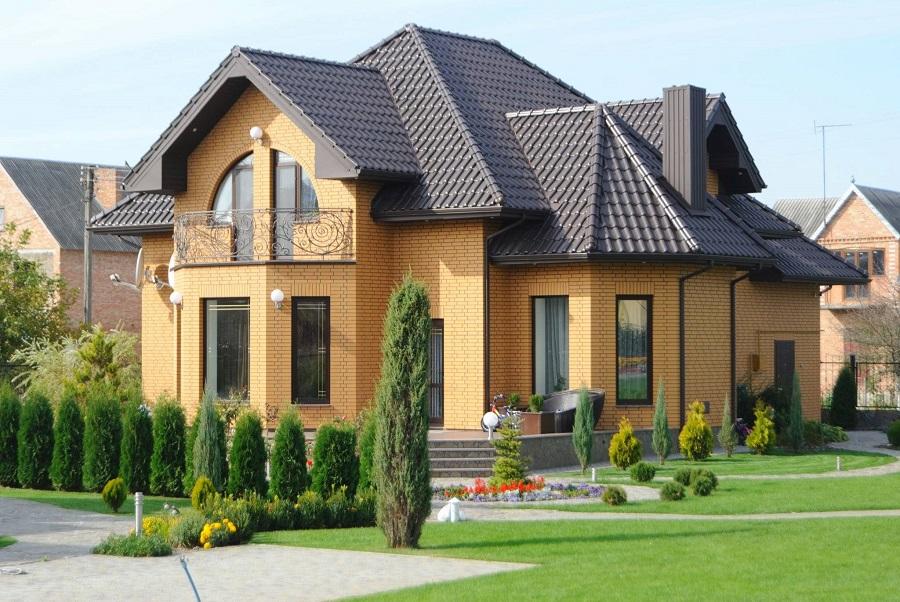 фото дома из желтого кирпича